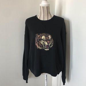 Betsey Johnson Tiger Crewneck Sweatshirt
